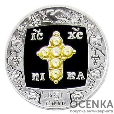 Медаль НБУ Украинская традиция нагрудных и нательных крестов 2016 год