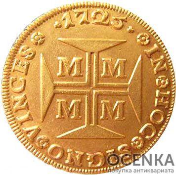 Золотая монета 4000 рейсов (4000 Réis) Бразилия - 3