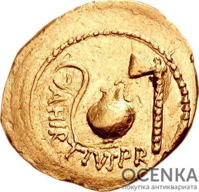 Золотой ауреус, Гай Юлий Цезарь, 60-42 год до н.э. - 1