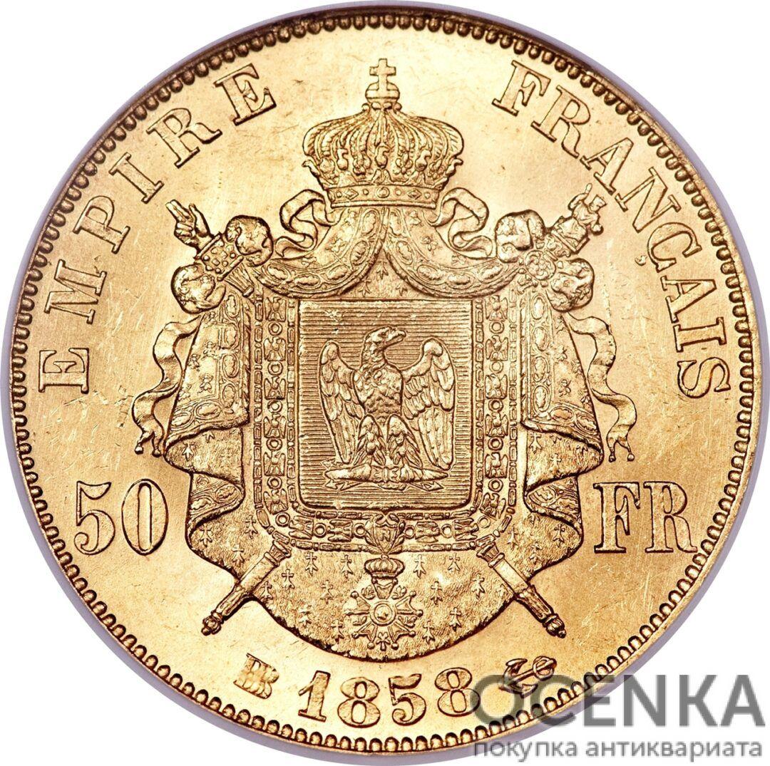Золотая монета 50 Франков (50 Francs) Франция