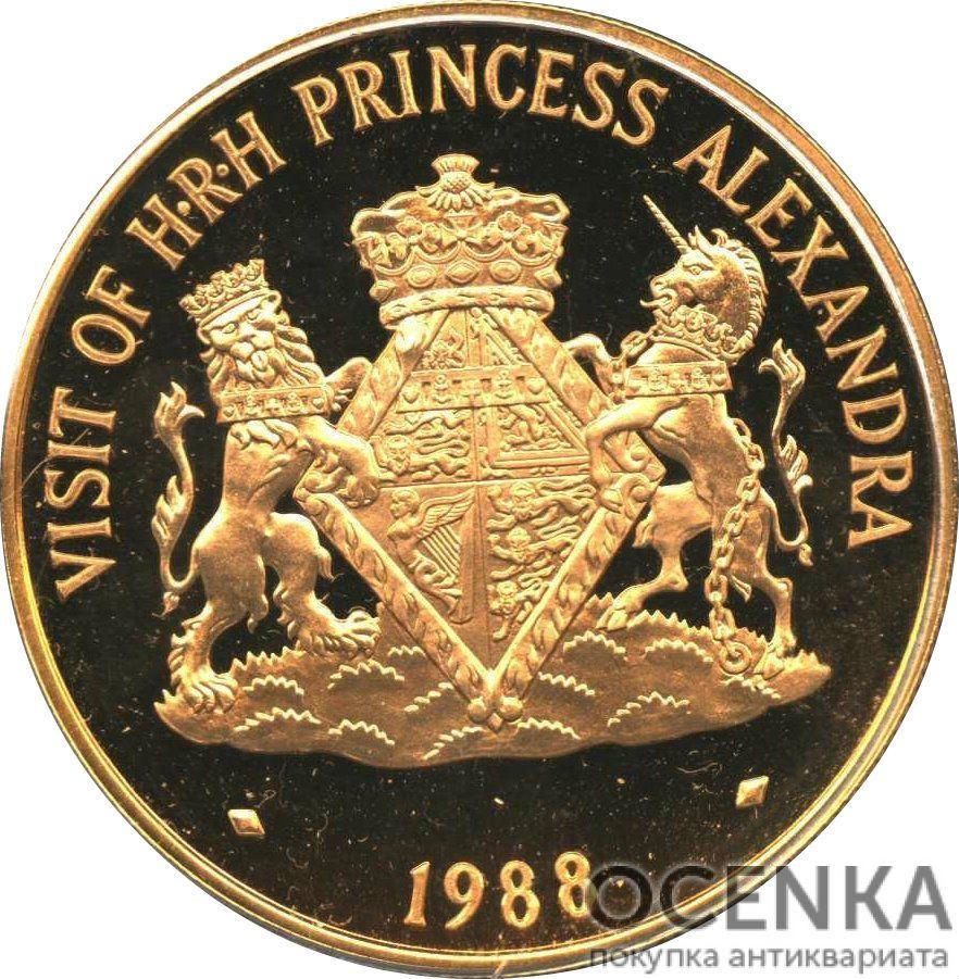 Золотая монета 250 Долларов Острова Кайман - 1