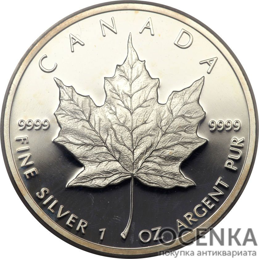 Серебряная монета 5 Долларов Канады - 2