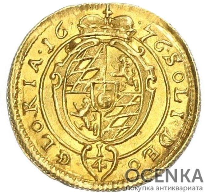 Золотая монета ¼ Дуката Германия