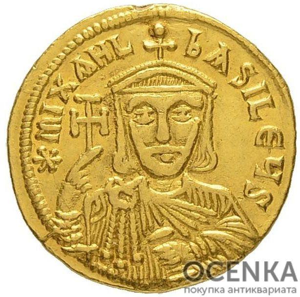 Золотой солид Византии, Михаил II Травл, 820-829 год - 1