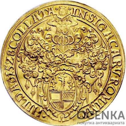 Золотая монета 4 Гульдена Германия