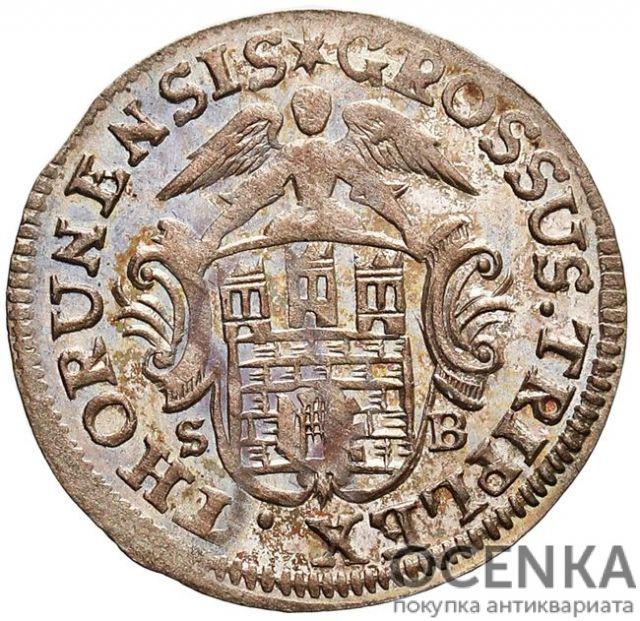 Серебряная монета Трояк (3 гроша) Средневековой Польши - 3