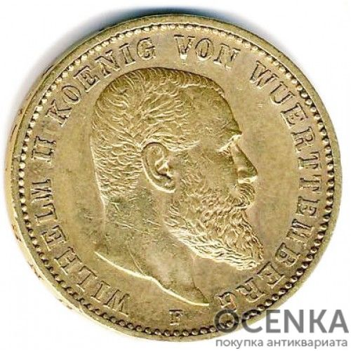 Золотая монета 20 Марок Германия - 7