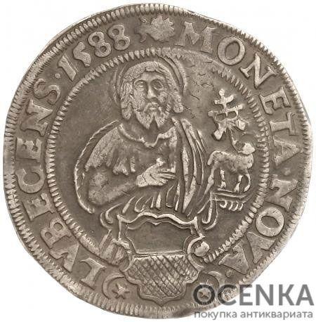 Серебряная монета Талер Средневековой Польши - 3