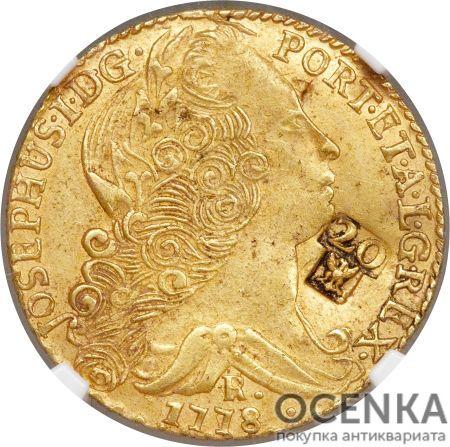 Золотая монета 20 Ливров (20 Livres) Франция - 4