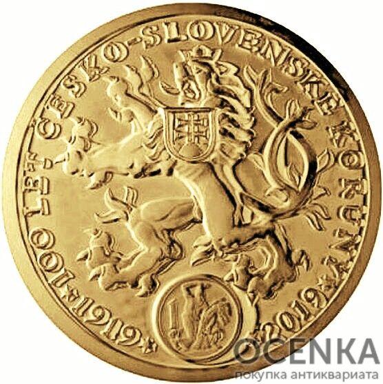 Золотая монета 100 000 Крон (100 000 Korun) Чехия - 1