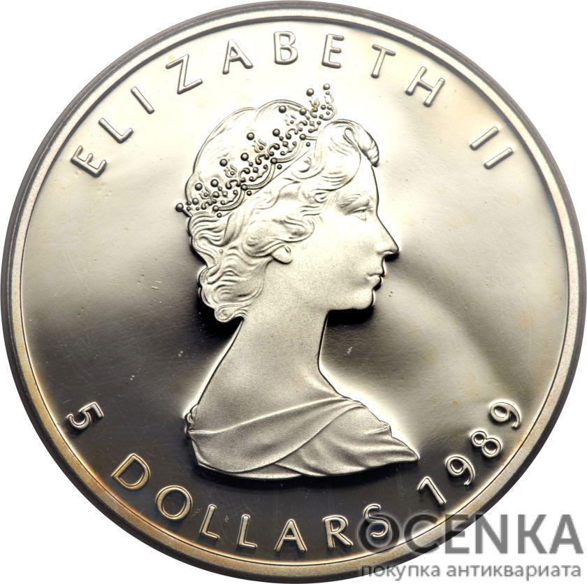 Серебряная монета 5 Долларов Канады - 3