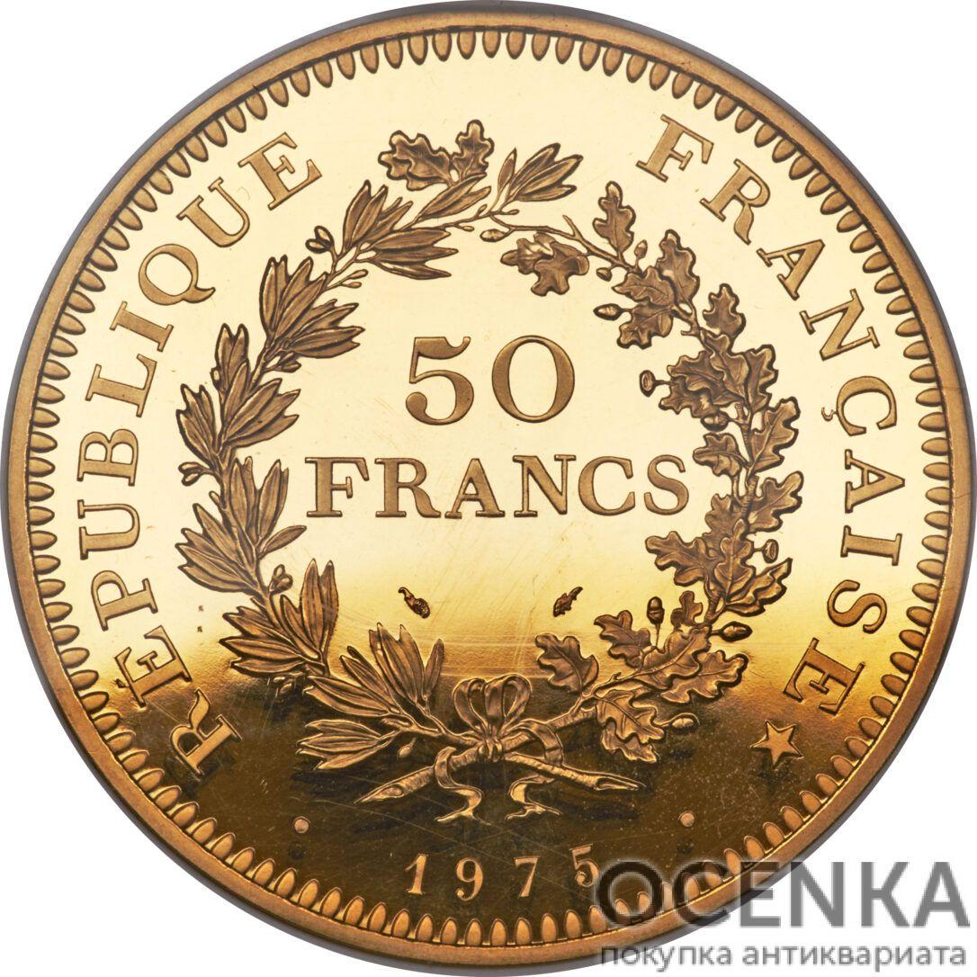 Золотая монета 50 Франков (50 Francs) Франция - 4