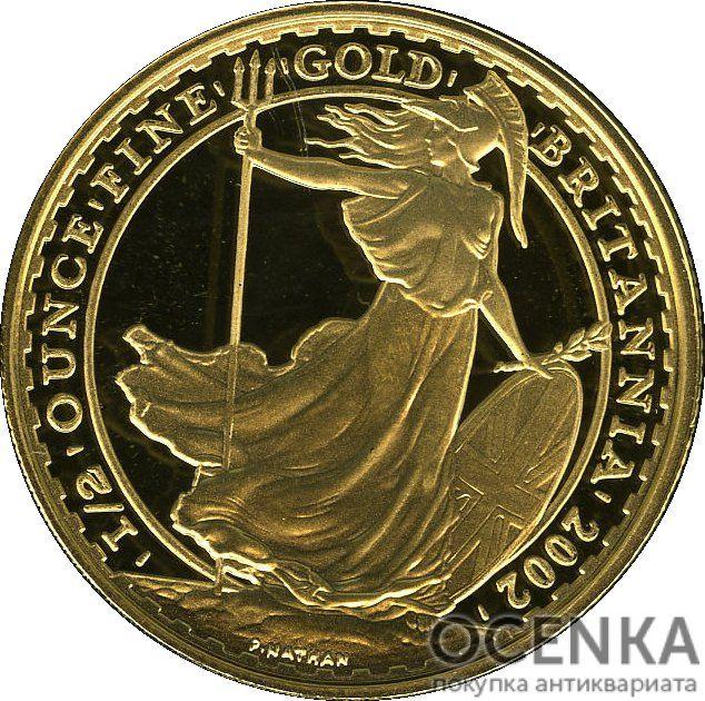 Золотая монета 50 Pounds (50 фунтов) Великобритания - 2