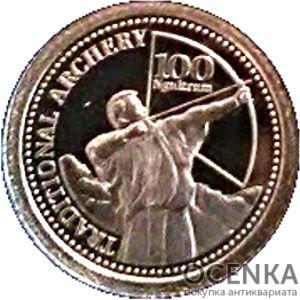 Золотая монета 100 Нгултрумов (100 Ngultrums) Бутана