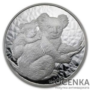Серебряная монета 10 долларов 2008 год. Австралия. Коала