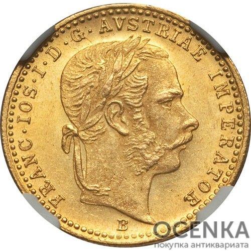 Золотая монета 1 дукат Австро-Венгрии - 5