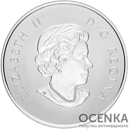 Серебряная монета 10 Долларов Канады - 5