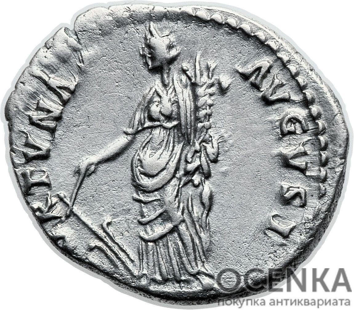 Серебряный Денарий Марка Кокцея Нервы Цезаря Августа, 96-98 год - 1
