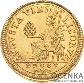 Золотая монета 1 Дукат Германия - 8
