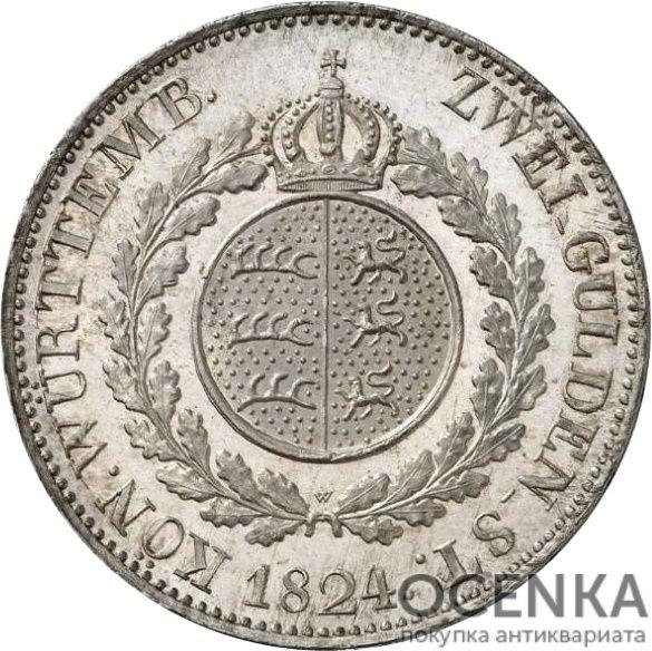 Серебряная монета 2 Гульдена (2 Gulden) Германия - 4