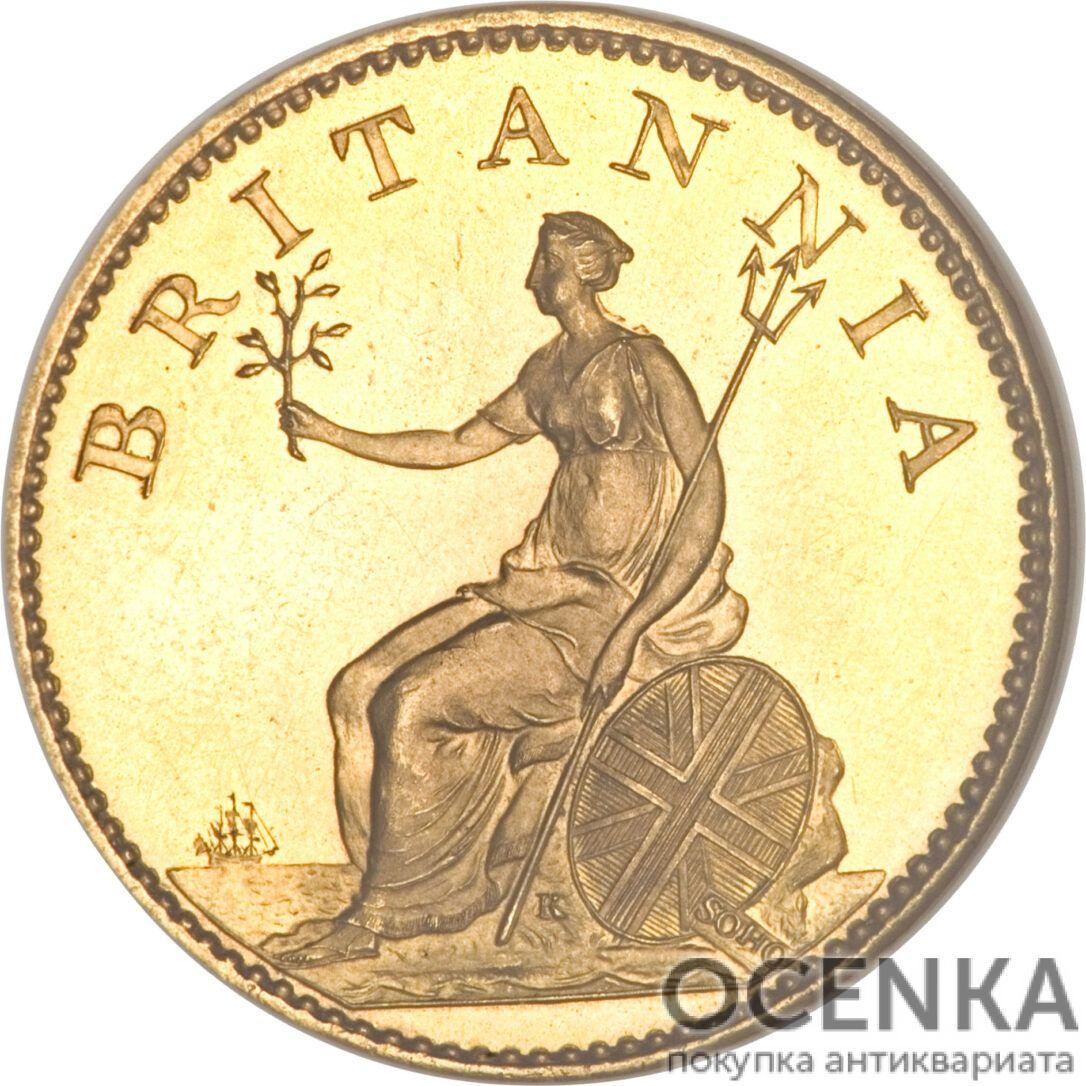 Золотая монета 1 Farthing (фартинг) Великобритания - 2