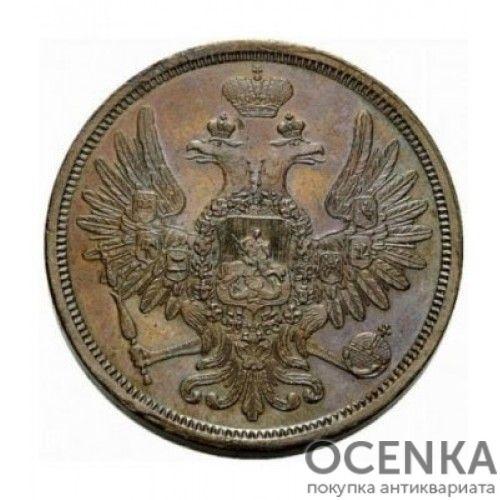 Медная монета 5 копеек Николая 1 - 7