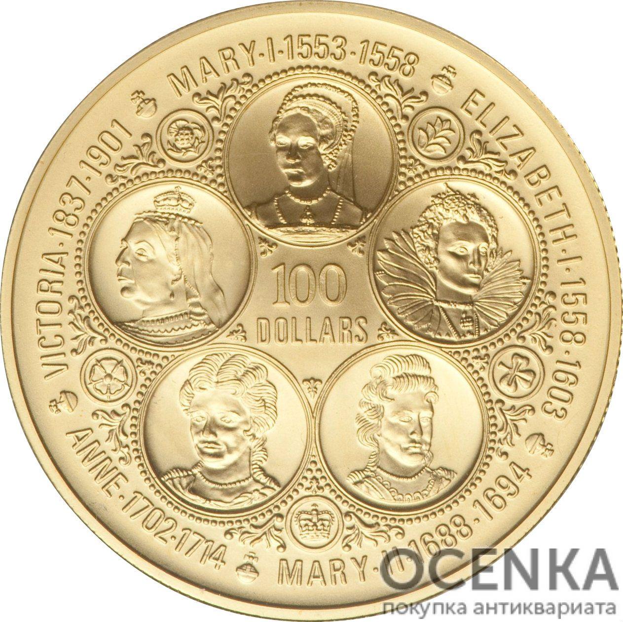 Золотая монета 100 Долларов Острова Кайман - 2