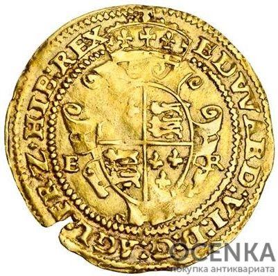 Золотая монета 1 Crown (крона) Великобритания - 5