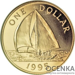 Золотая монета 1 доллар Бермудских островов