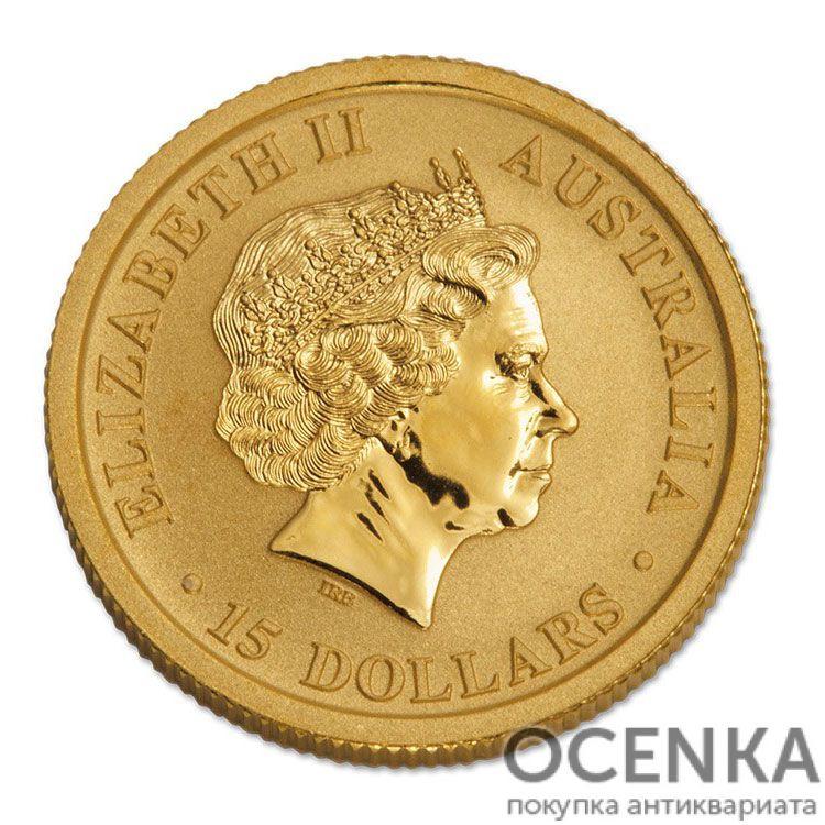Золотая монета 15 долларов 2016 год. Австралия. Клиновидный орел - 1
