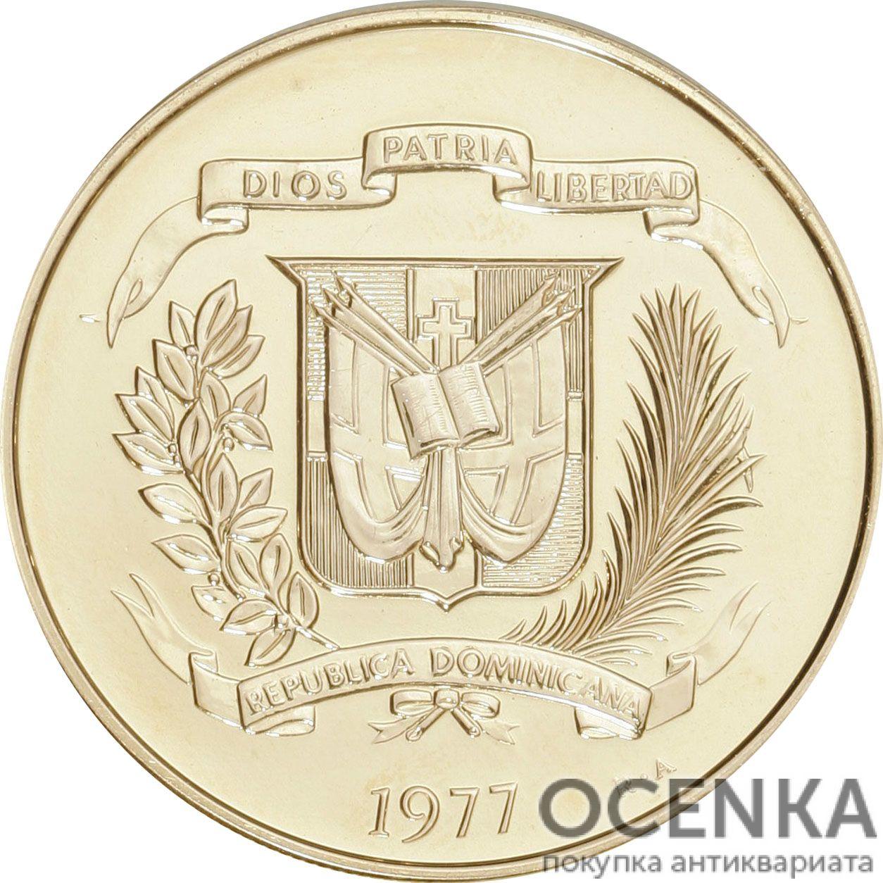Золотая монета 200 Песо (200 Pesos) Доминикана - 1