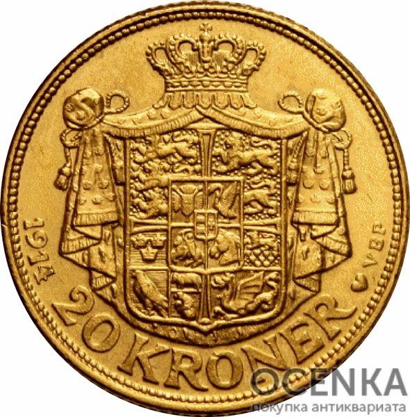 Золотая монета 20 Крон (20 Kroner) Дания - 4
