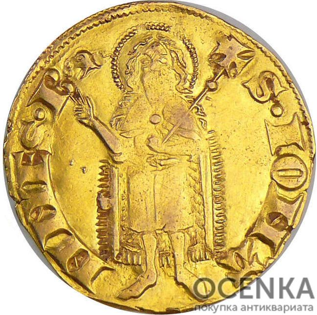 Золотая монета 1 Флорин(1 Florin) Франция - 1