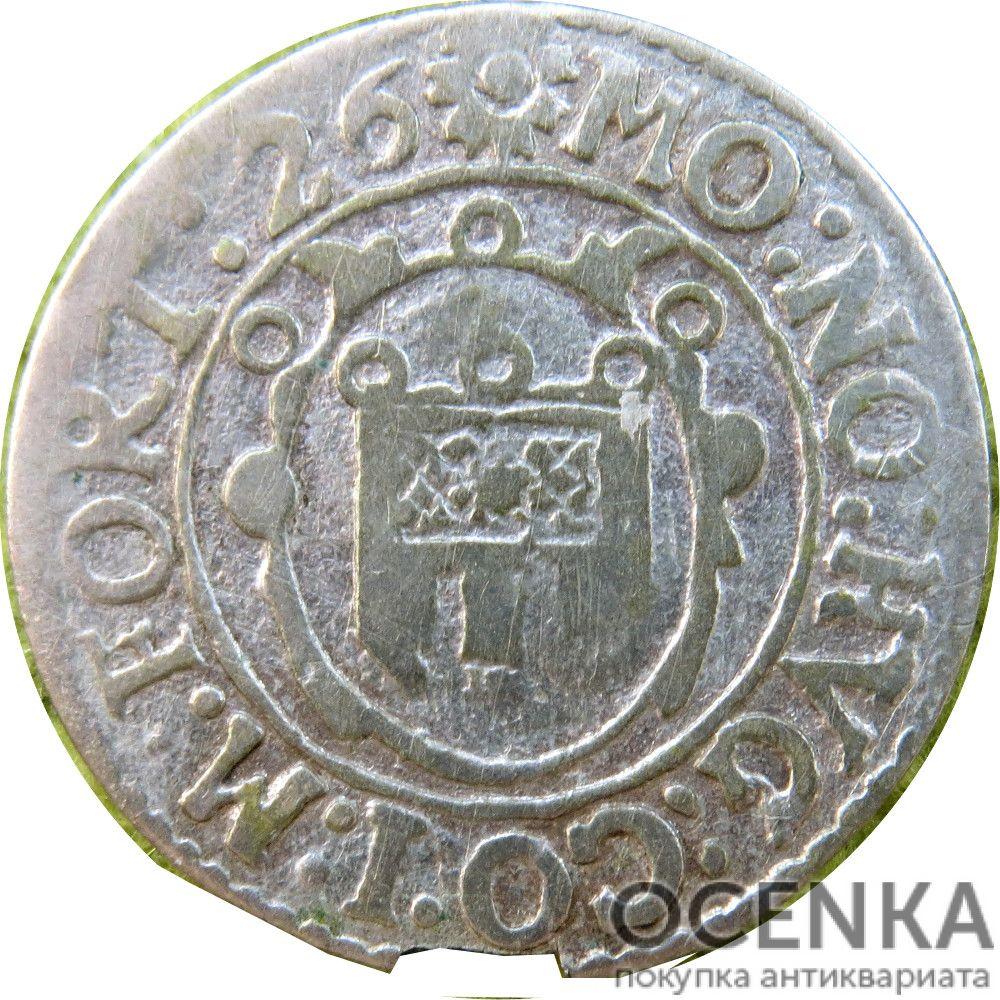 Серебряная монета 2 Крейцера (2 Kreuzer) Германия - 5