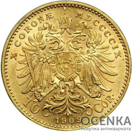 Золотая монета 10 крон Австро-Венгрии - 4