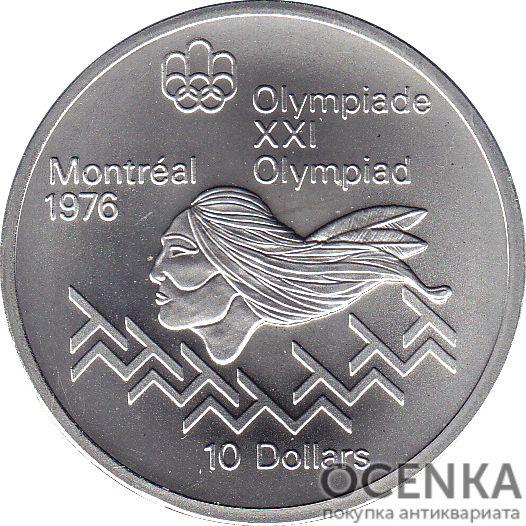 Серебряная монета 10 Долларов Канады - 2