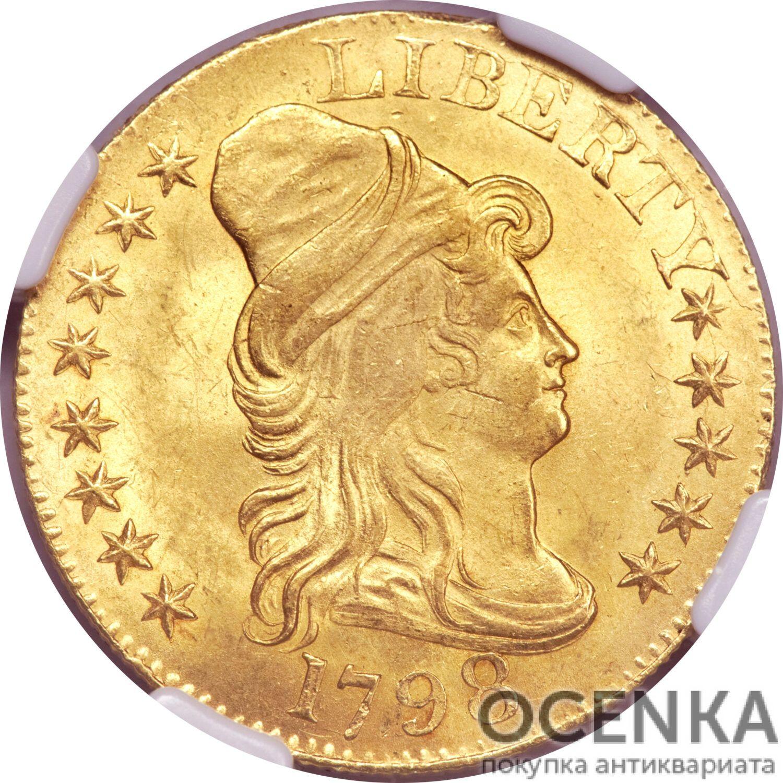 Золотая монета 5 Dollars (5 долларов) США - 3
