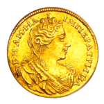 Золотые монеты Анны Иоанновны