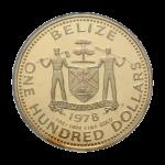 Золотые монеты Белиза