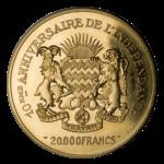 Золотые монеты Чада