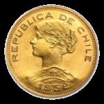 Золотые монеты Чили