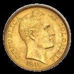 Золотые монеты Колумбии