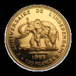 Золотые монеты Конго