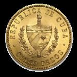 Золотые монеты Кубы