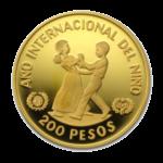 Золотые монеты Доминиканской Республики