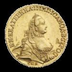 Золотые монеты Екатерины 2