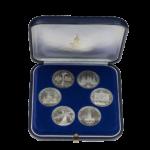 Памятные наборы Госбанка с обиходными монетами СССР