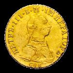 Золотые монеты Петра 3