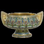 Серебряные изделия 84 пробы в эмалях