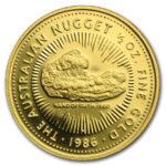 Золотая монета 50 долларов 1986 год. Австралия. Самородки